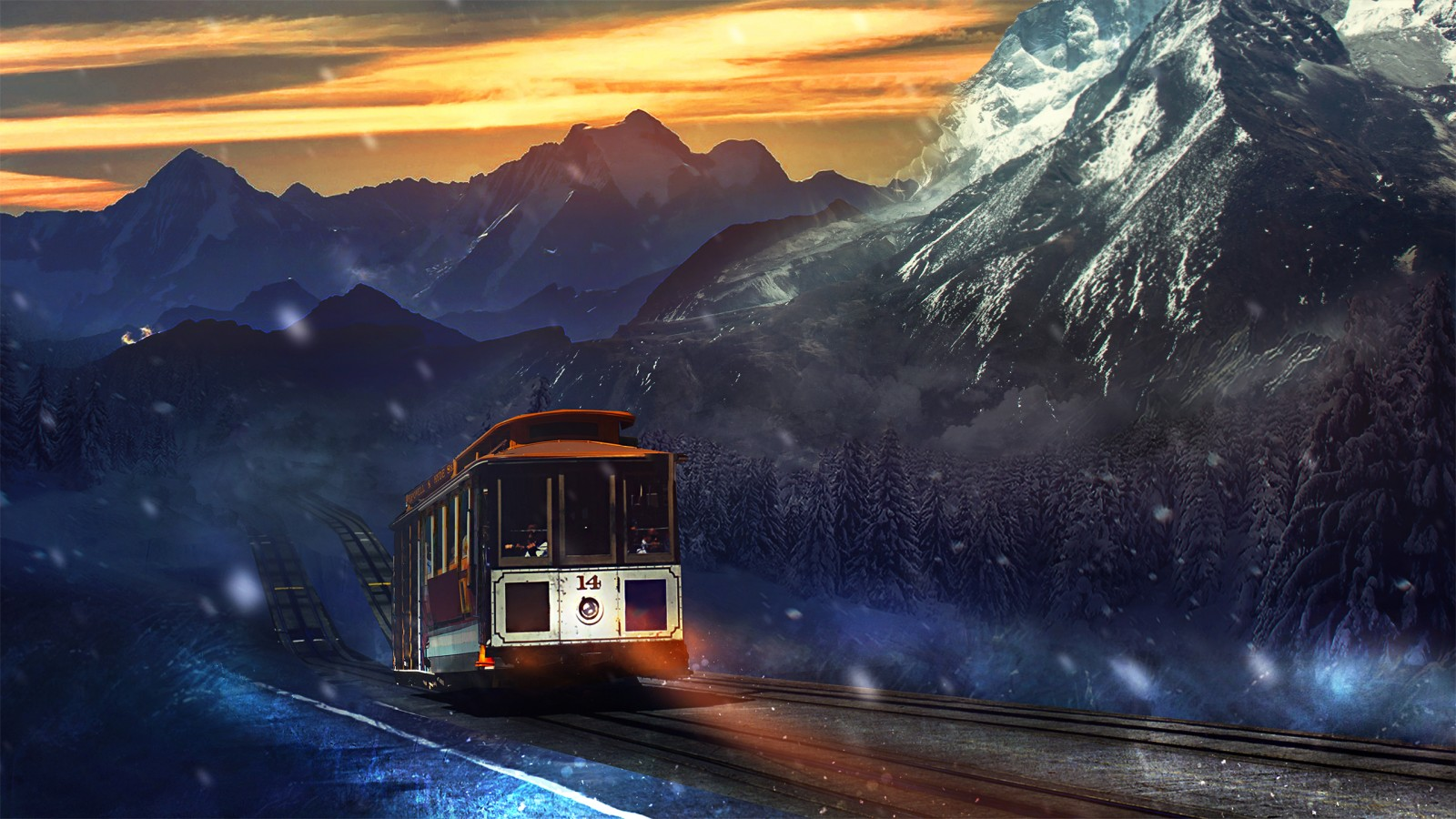 Fortnite 3d Wallpapers Train Journey Mountains Wallpapers Hd Wallpapers Id 16176