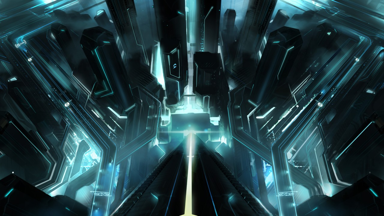 Abstract Iphone 5 Wallpaper Hd Tron City Wallpapers Hd Wallpapers Id 10659