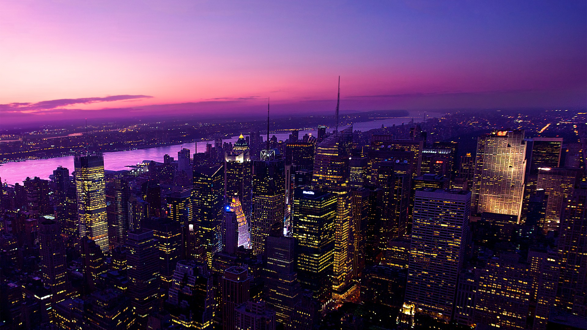 Iphone 5 Space Wallpaper Hd Twilight In New York City Wallpapers Hd Wallpapers Id