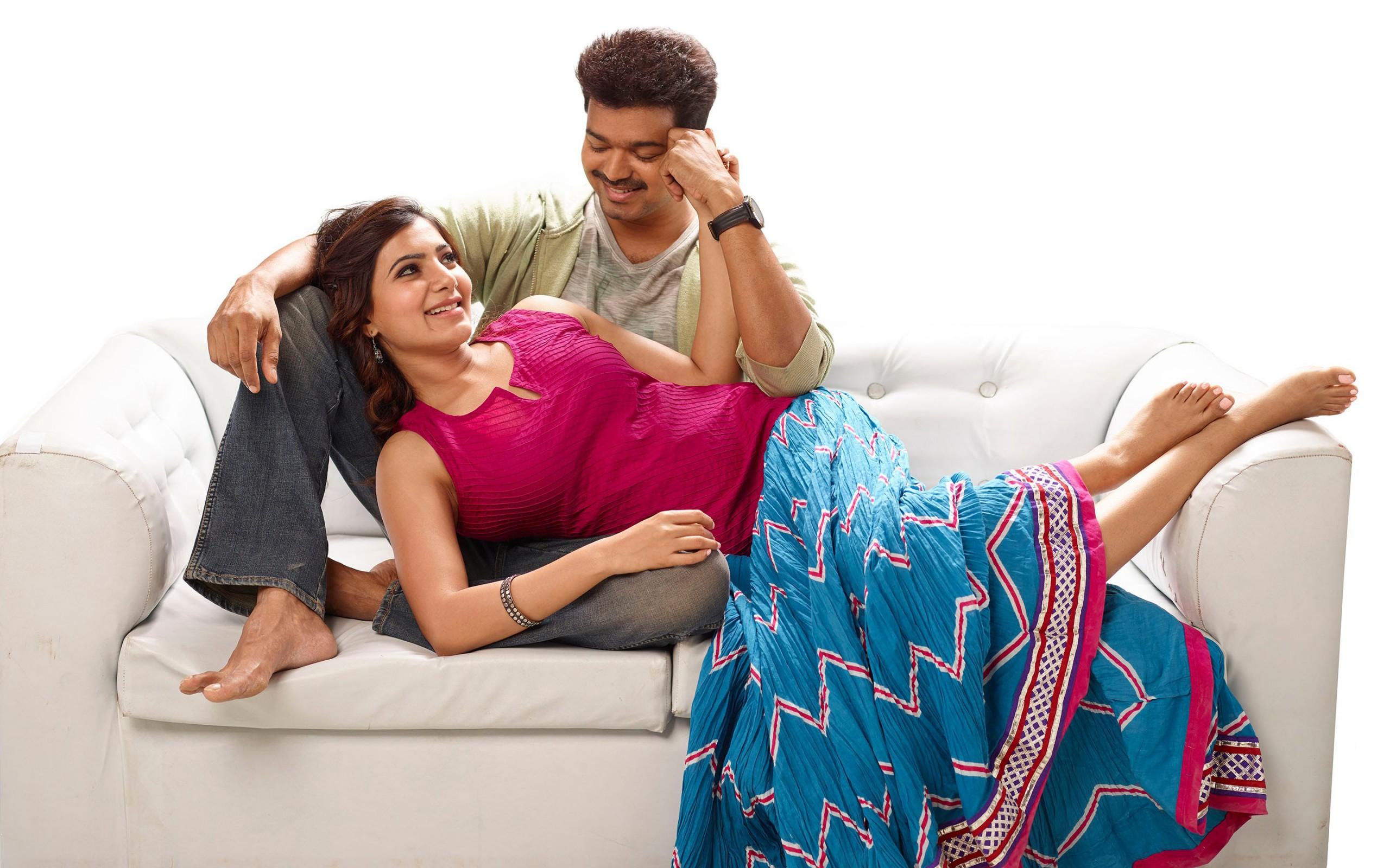 Samantha Ruth Prabhu 3d Wallpaper Vijay Samantha In Kaththi Wallpapers Hd Wallpapers Id