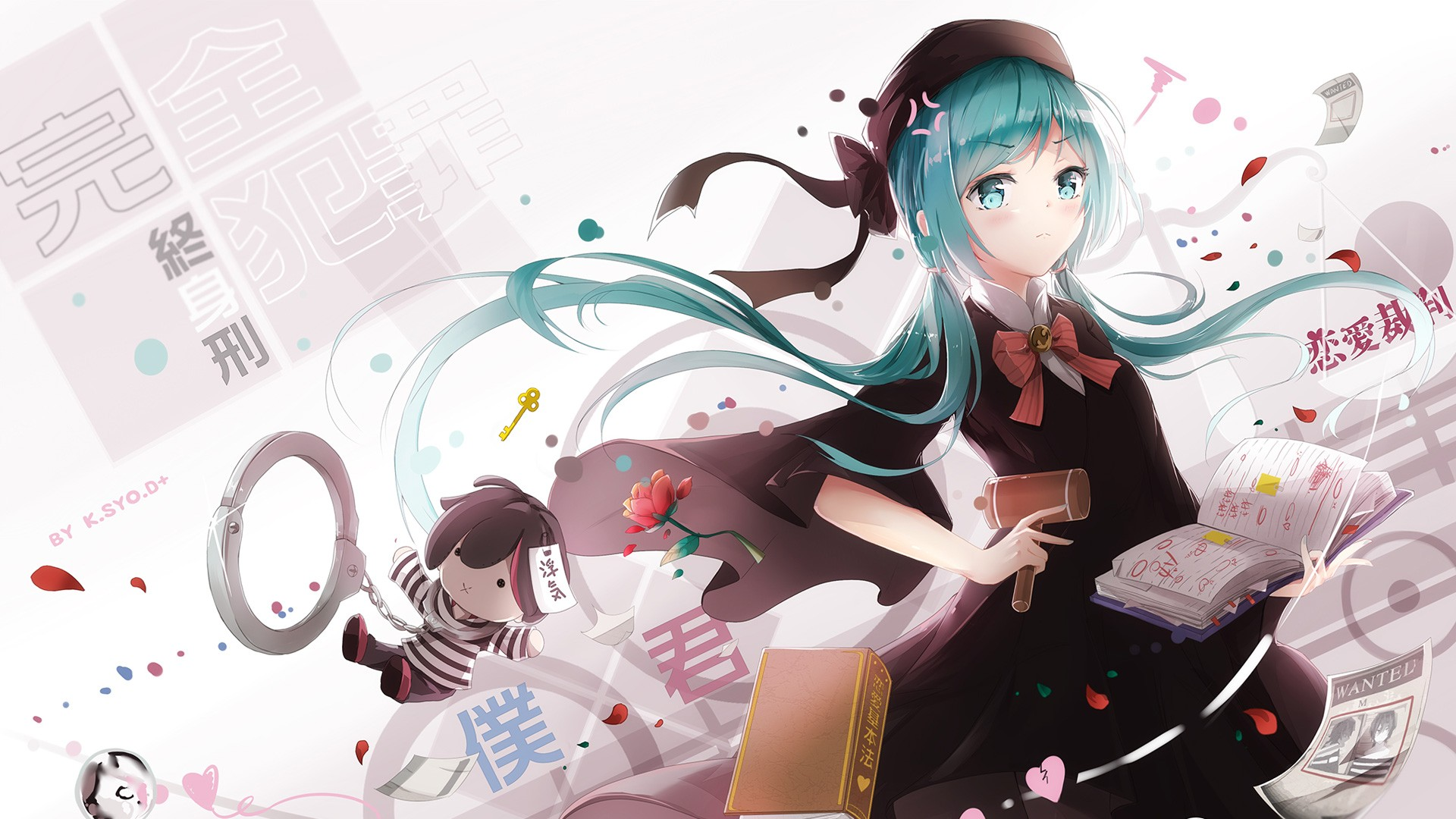 Fantasy Girl Wallpaper Full Hd Vocaloid Hatsune Miku Wallpapers Hd Wallpapers Id 17708