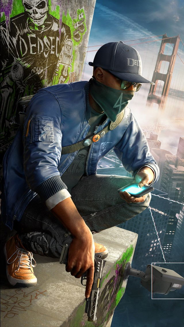Graffiti Wallpaper For Iphone 5 Watch Dogs 2 Game Wallpapers Hd Wallpapers Id 18148