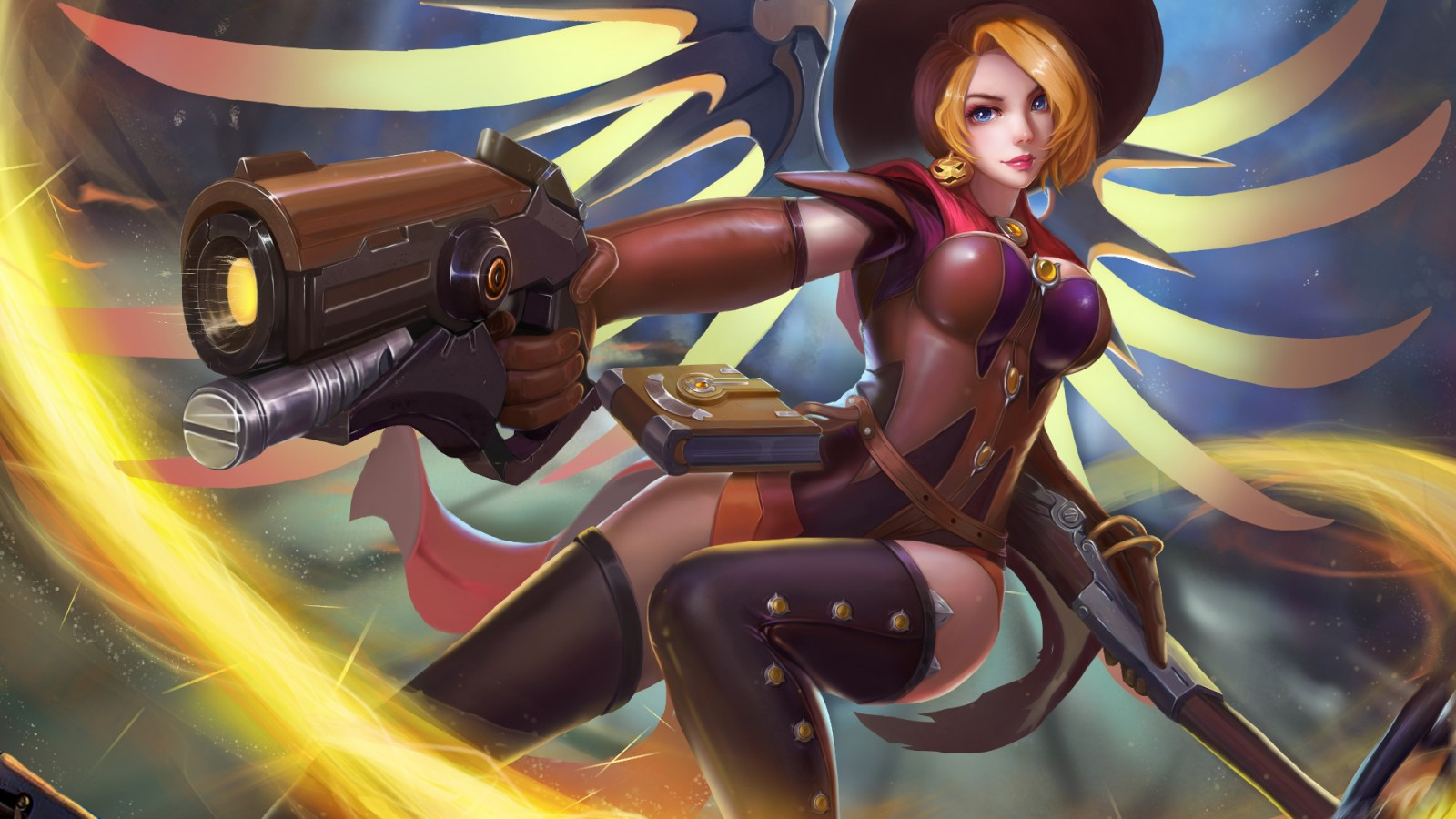 Windows 10 Wallpaper For Girls Witch Mercy Overwatch Wallpapers Hd Wallpapers Id 22784