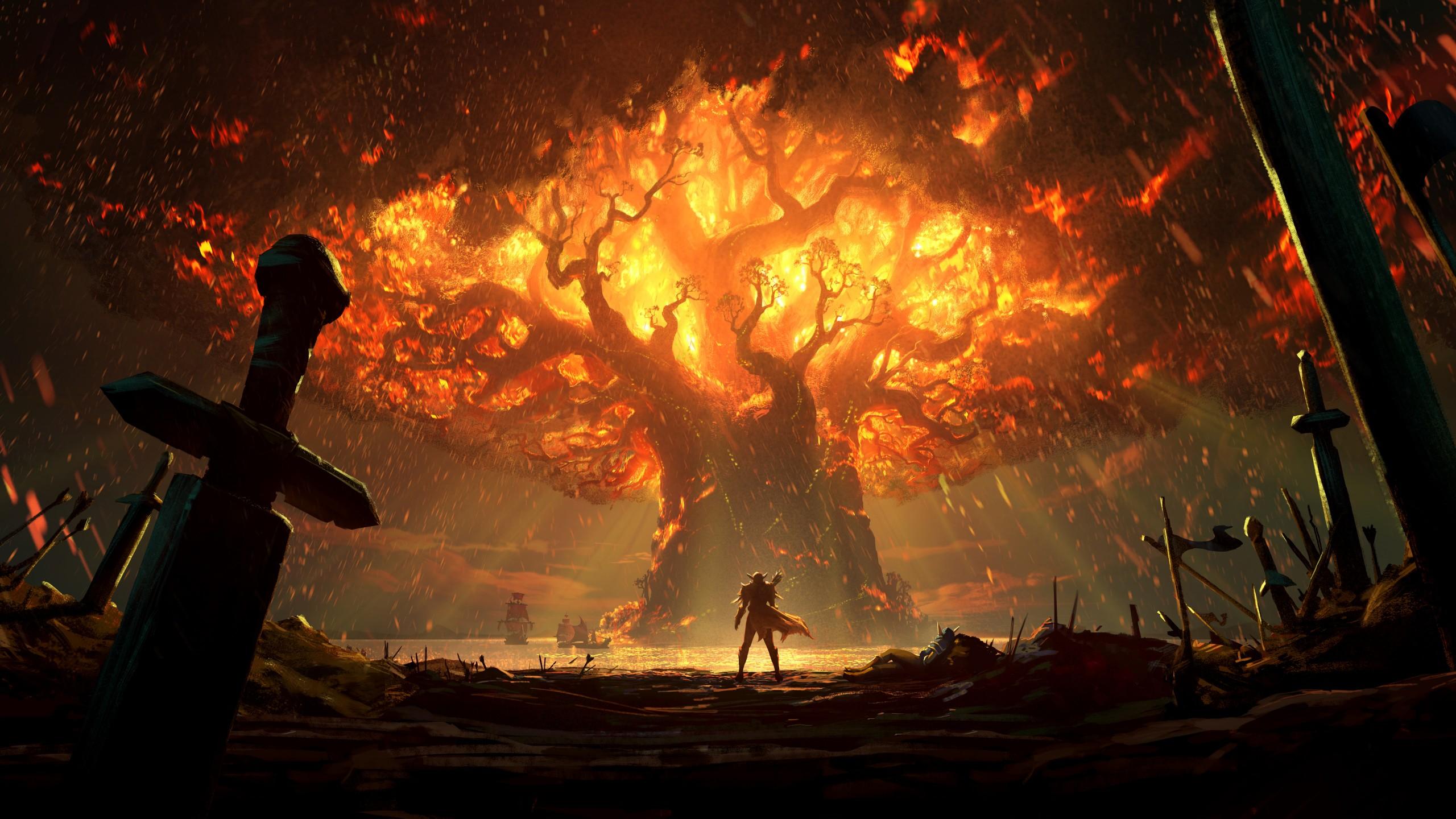 World Of Warcraft Wallpapers Hd World Of Warcraft Battle For Azeroth Key Art 2018 4k 8k