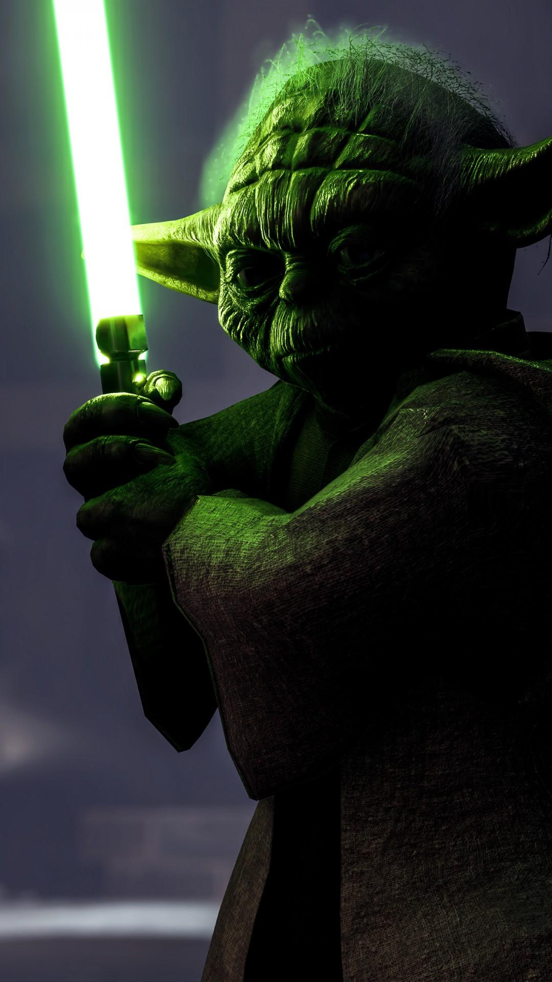 Iphone X Star Wars Wallpaper Yoda In Star Wars Battlefront 4k Wallpapers Hd