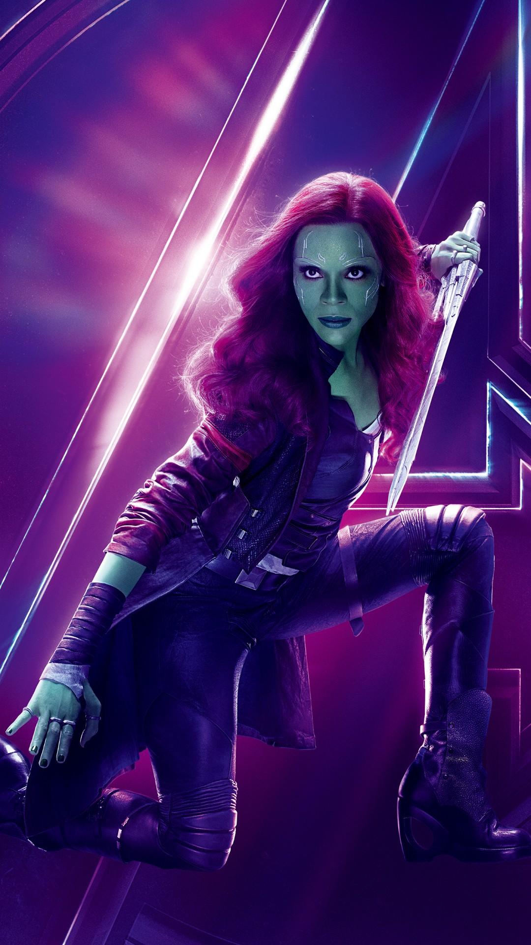 Ipad Hd Wallpaper  Zoe Saldana As Gamora In Avengers Infinity War 4k 8k