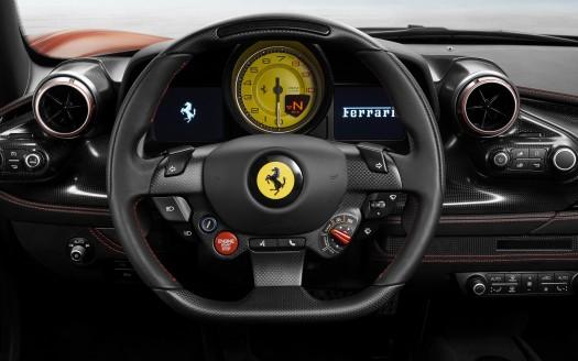 3d Car Photo Wallpaper Ferrari F8 Tributo 2019 Interior 5k Wallpapers Hd