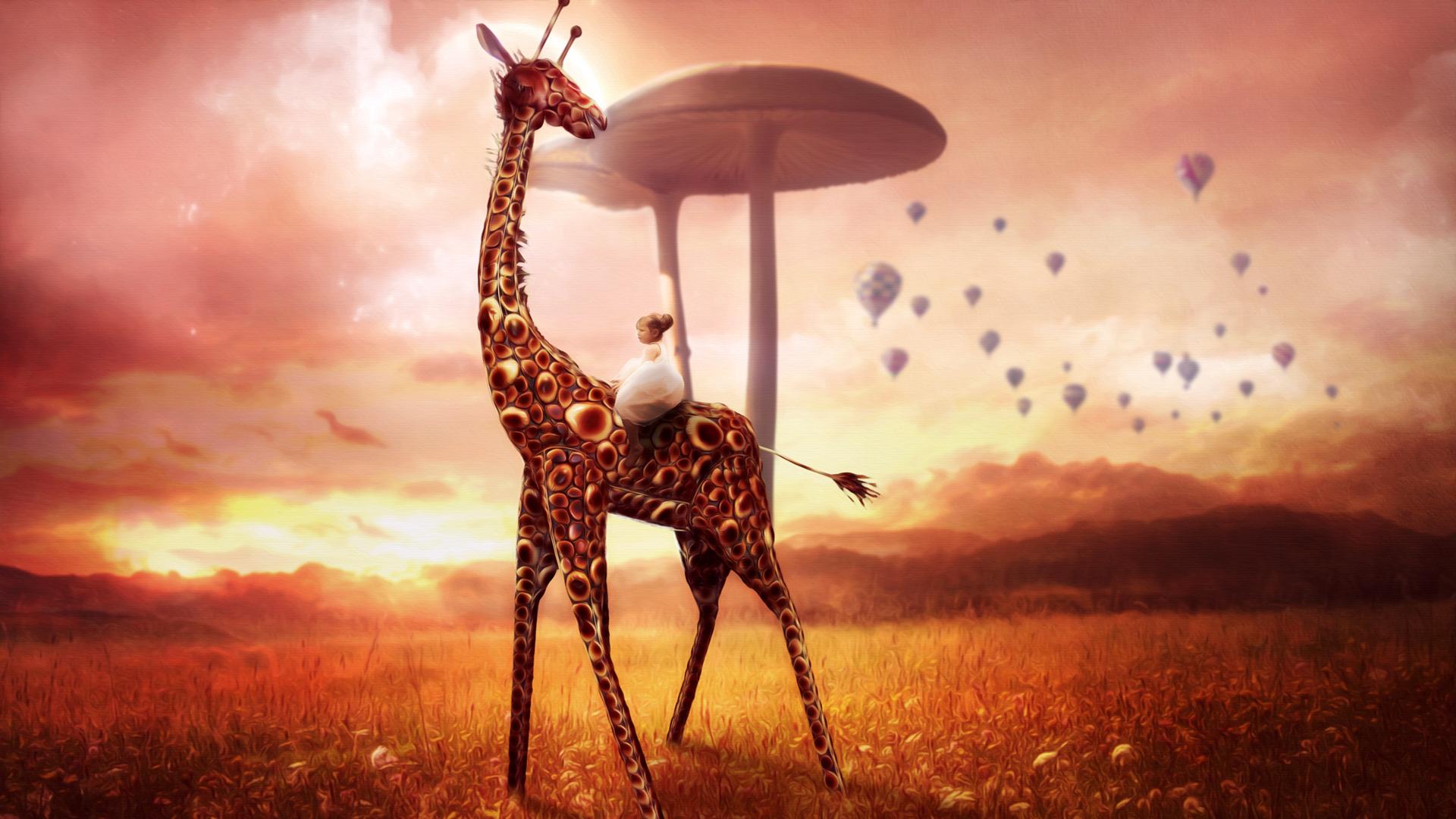 Dream Quotes Wallpaper 1080p Giraffe Dream Wallpapers Hd Wallpapers Id 13793