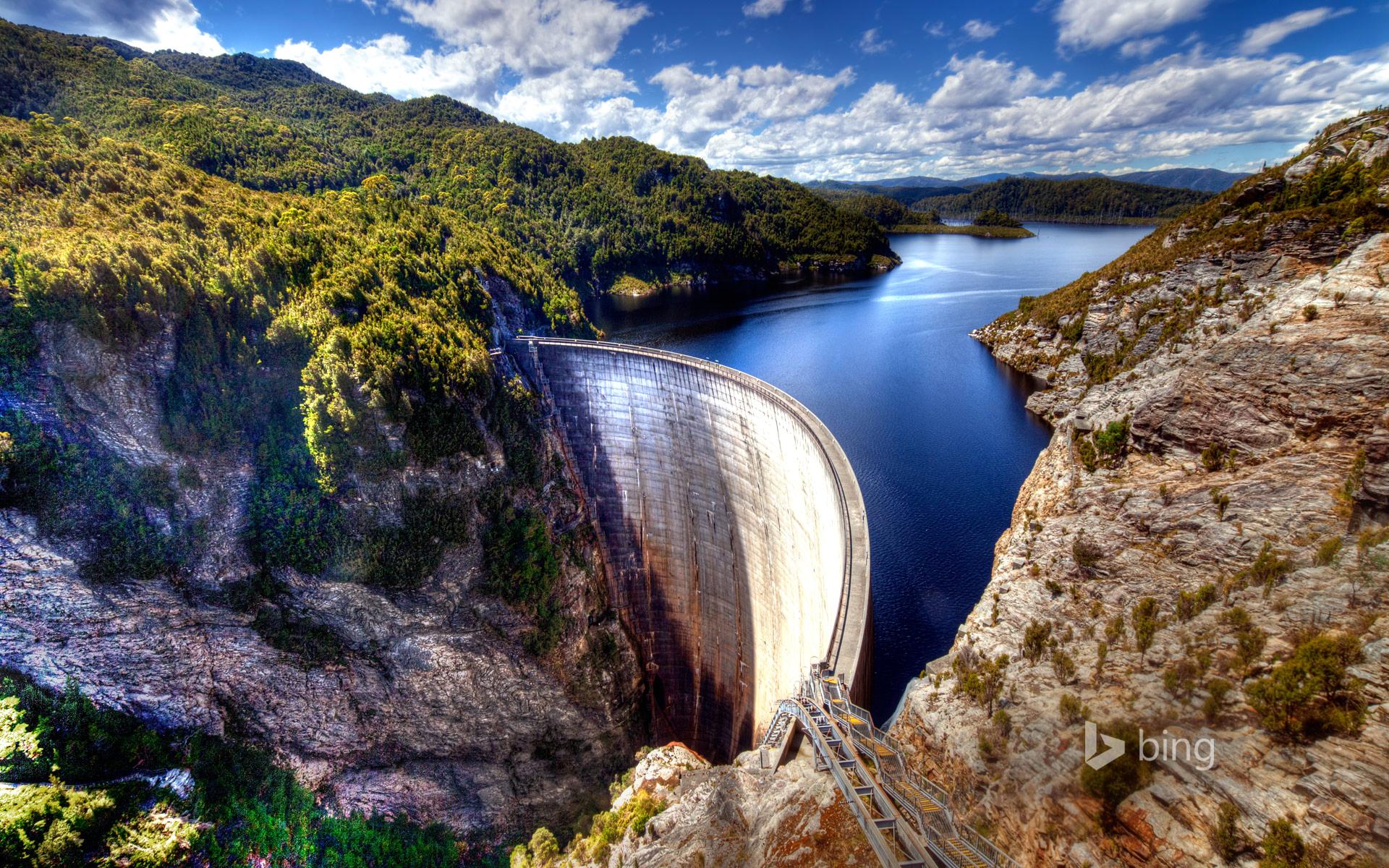 Apple Iphone 5s Wallpaper Hd Download Gordon Dam Tasmania Australia Wallpapers Hd Wallpapers