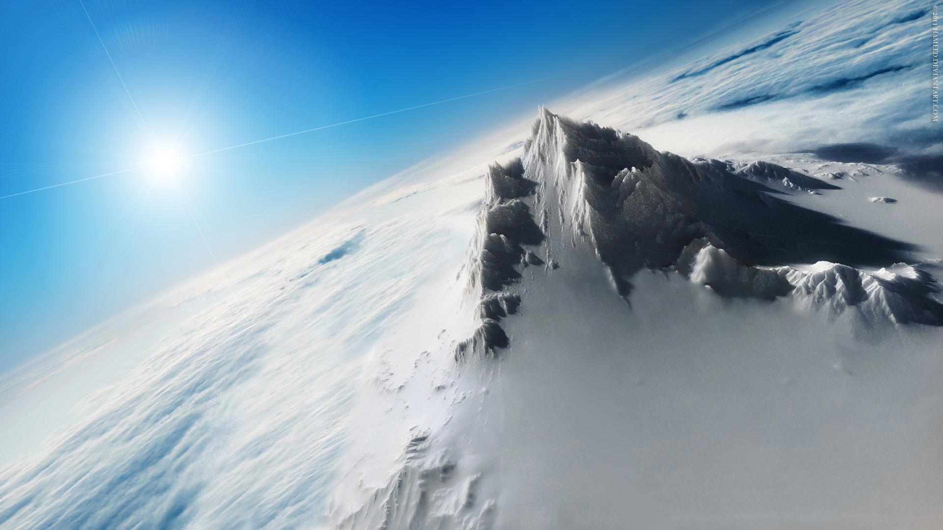 Iphone 4 3d Wallpaper Ios 7 Snow Peak Wallpapers Hd Wallpapers Id 10221
