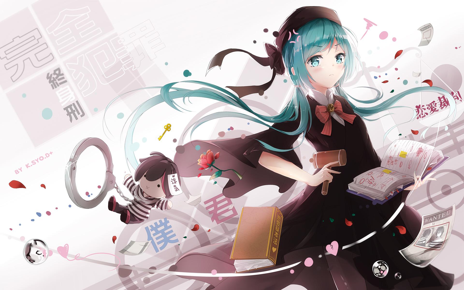 Anime Girl Hug Love Wide Wallpapers Vocaloid Hatsune Miku Wallpapers Hd Wallpapers Id 17708