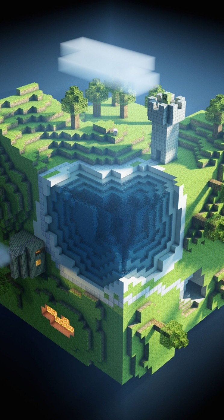 Minecraft Wallpaper Hd Download Download Planet Minecraft Hd Wallpaper For Iphone 5 5s