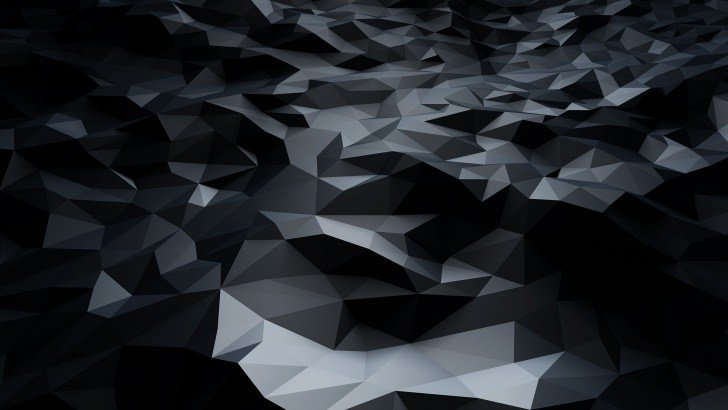 Iphone 6s Wallpaper Hd Quotes Abstract Black Low Poly Wallpaper 3d Hd Wallpapers