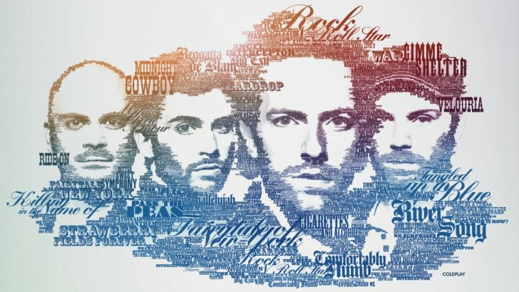 Wallpaper 3d Samsung Coldplay Typographic Portrait Wallpaper Typography Hd