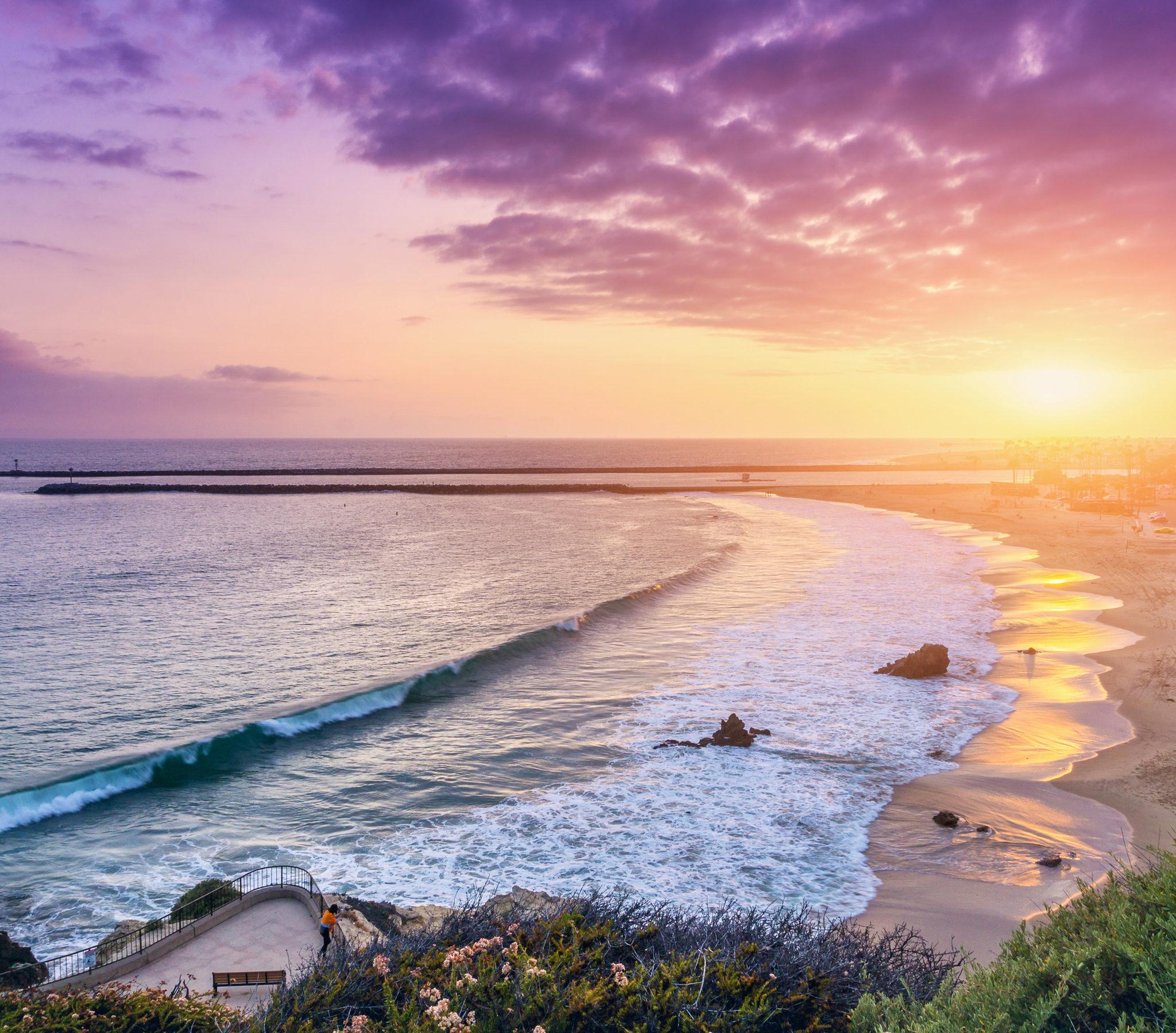 Iphone 5s Beach Wallpaper Corona Del Mar Newport Beach Wallpapers Hd Wallpapers