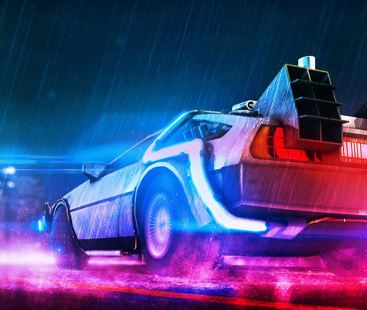 Spider Gwen Iphone Wallpaper Back To The Future Neon Wallpapers Hd Wallpapers