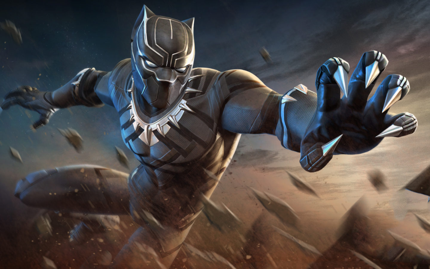 Black Spiderman Iphone Wallpaper Black Panther Marvel Contest Of Champions Wallpapers Hd