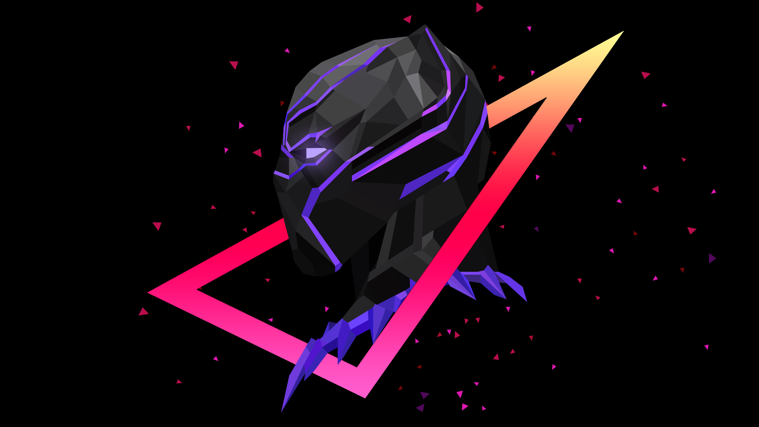 Low Poly Iphone Wallpaper Black Panther Low Ploy Artwork Wallpapers Hd Wallpapers