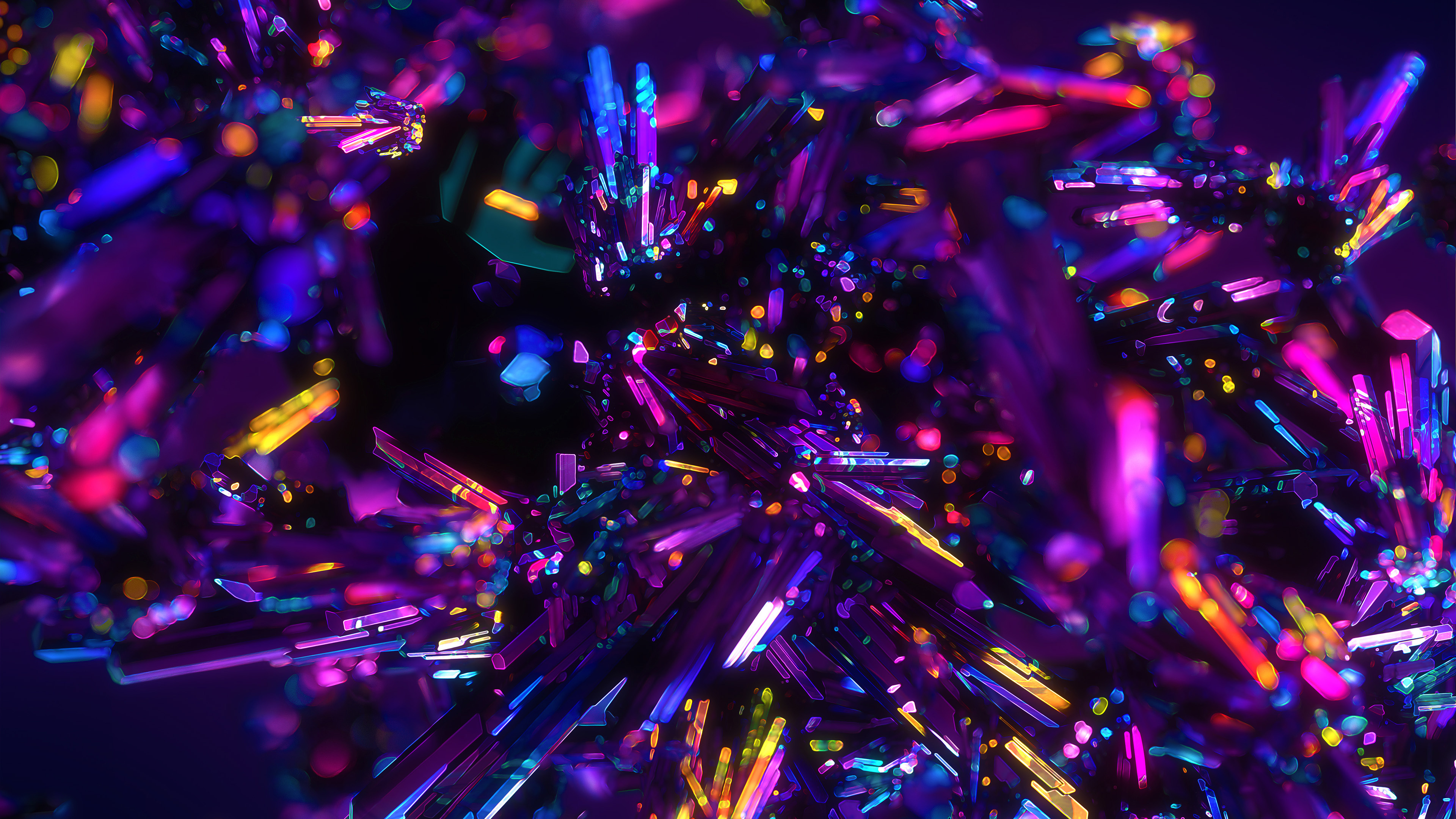 Cool Nature Wallpapers 3d Colorful Crystals Abstract 4k Wallpapers Hd Wallpapers