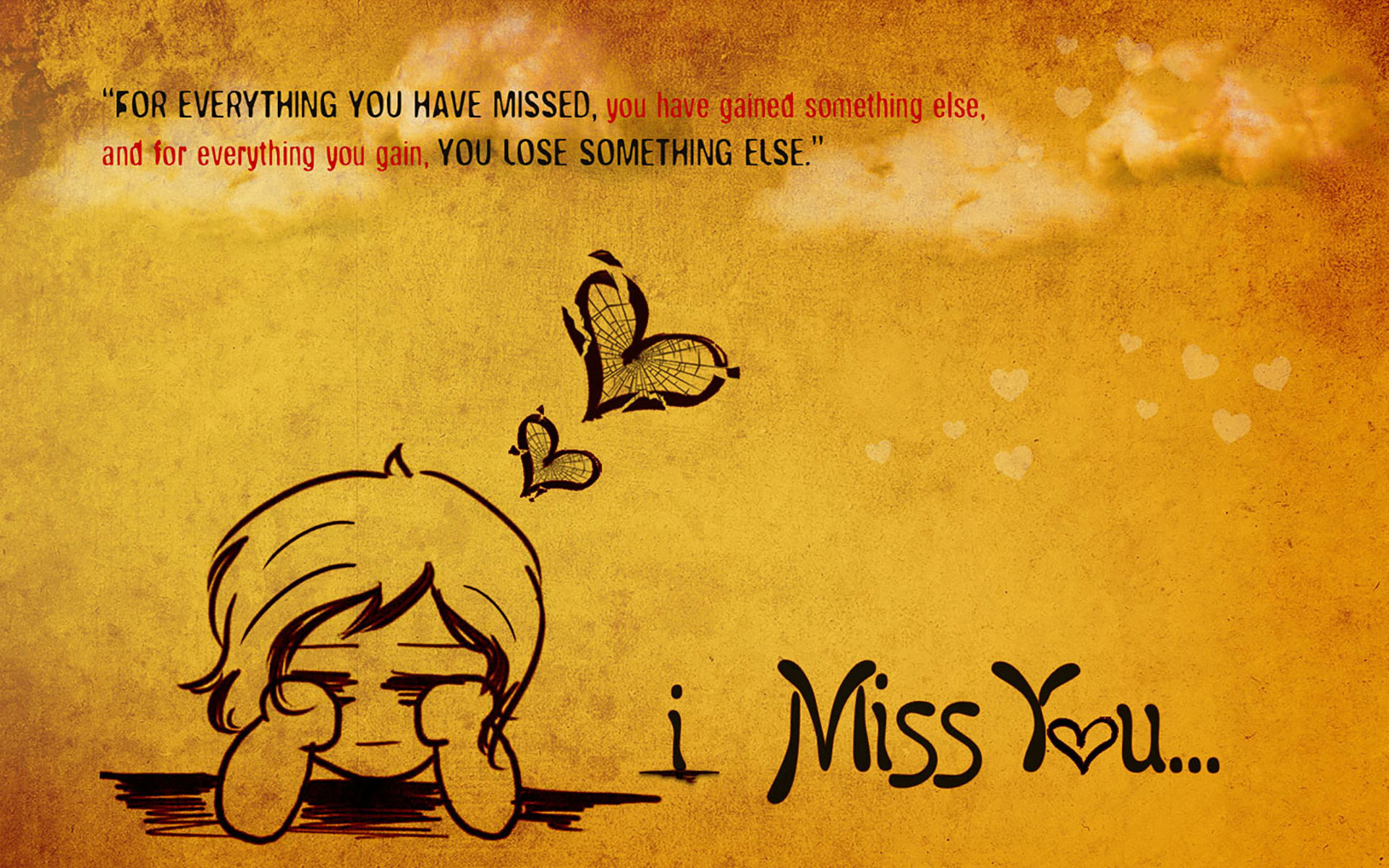 Cute Red Hearts Wallpapers I Miss You Wallpapers Hd Wallpapers Pulse