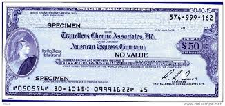 £50 travellers cheque