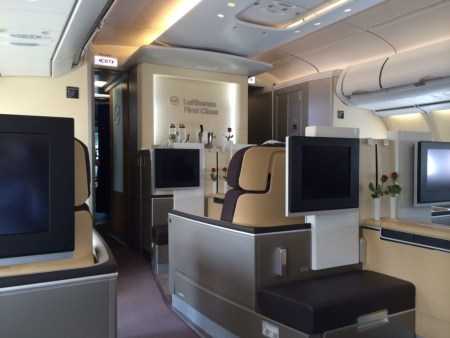 Lufthansa First Class cabin 2 review