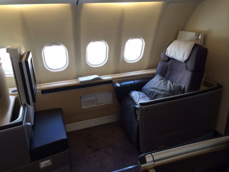 Lufthansa First Class seat A340 review