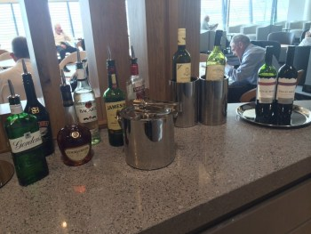 Aer Lingus Virgin Little Red lounge Heathrow drinks review