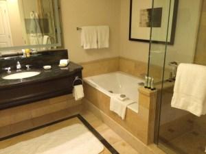 Four Seasons Las Vegas bathroom review