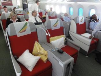 Ethiopian Airways business class 787