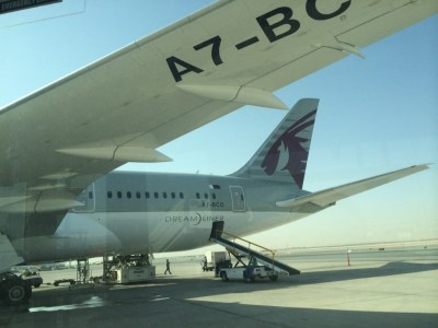 Qatar Airways 787 business class review - outside 2