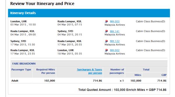 Malaysia pricing