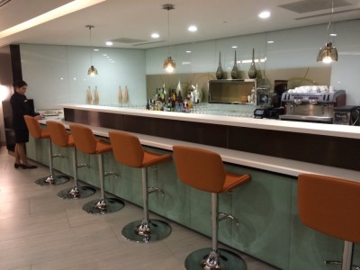 Bar Etihad lounge Heathrow Terminal 4 London review