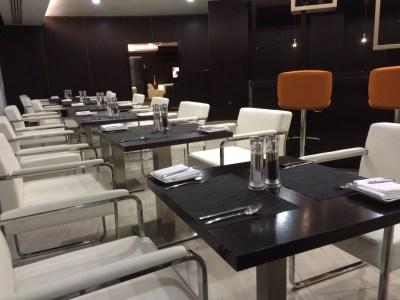 Restaurant Etihad lounge Heathrow review