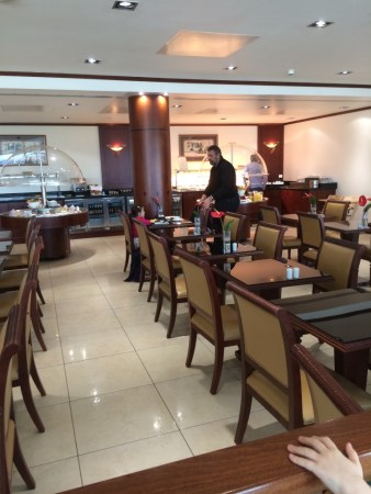 Emirates A380 business class review Heathrow lounge 2