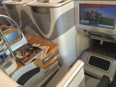 Emirates A380 business class review seats 2