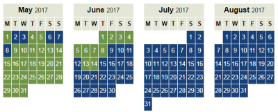 Iberia peak offpeak Avios calendar 2017