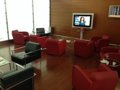 Iberia Dali VIP lounge in Madrid TV area