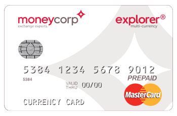 Moneycorp Explorer prepaid MasterCard