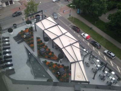 hilton tallinn park review terrace bird perspective
