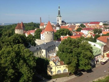 tallinn estonia old town view point