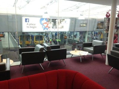 virgin trains first class lounge manchester piccadilly review view over tracks