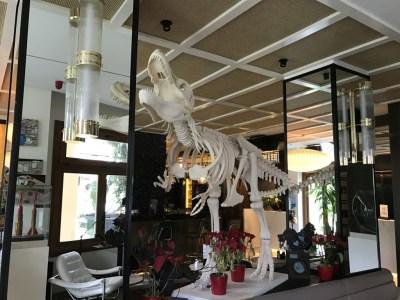 Gran Hotel Montesol Curio Hilton Ibiza entrance dinosaur