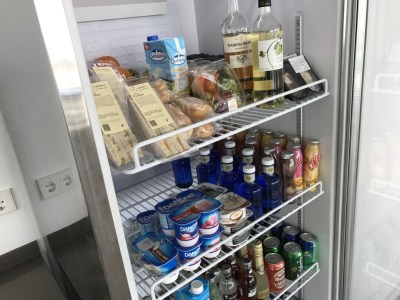 sala lounge cap des falco aena vip ibiza airport lounge fridge