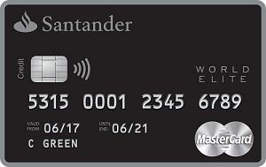 Santander Select World Elite Mastercard