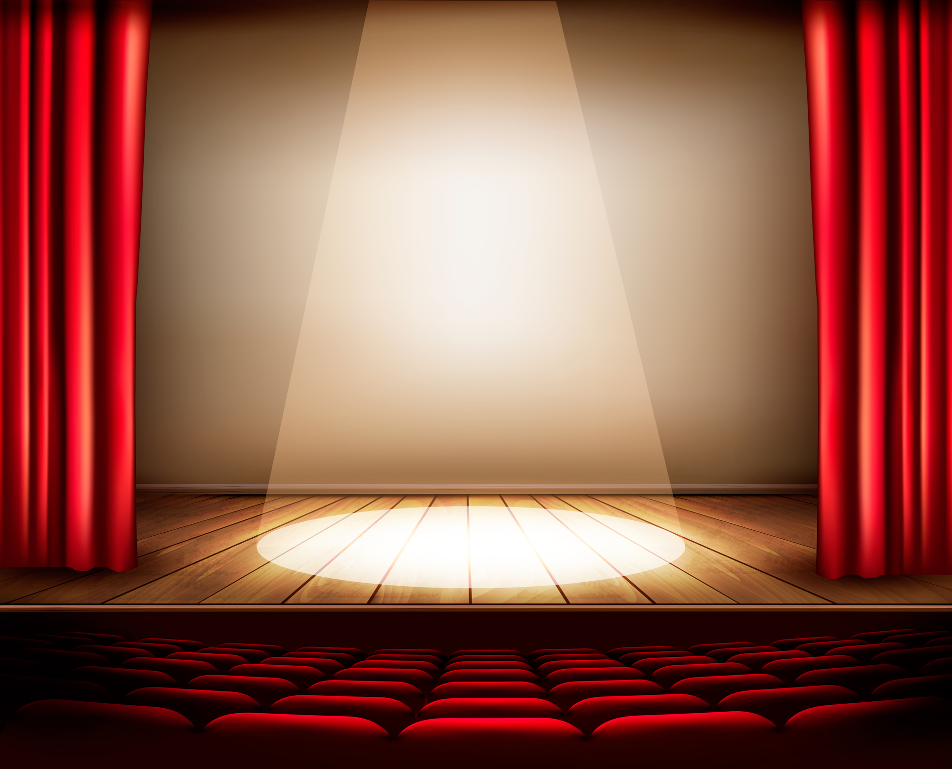 Gallery of stage curtain spotlight