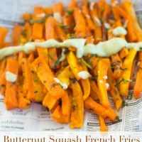 French Fries Made With Butternut Squash