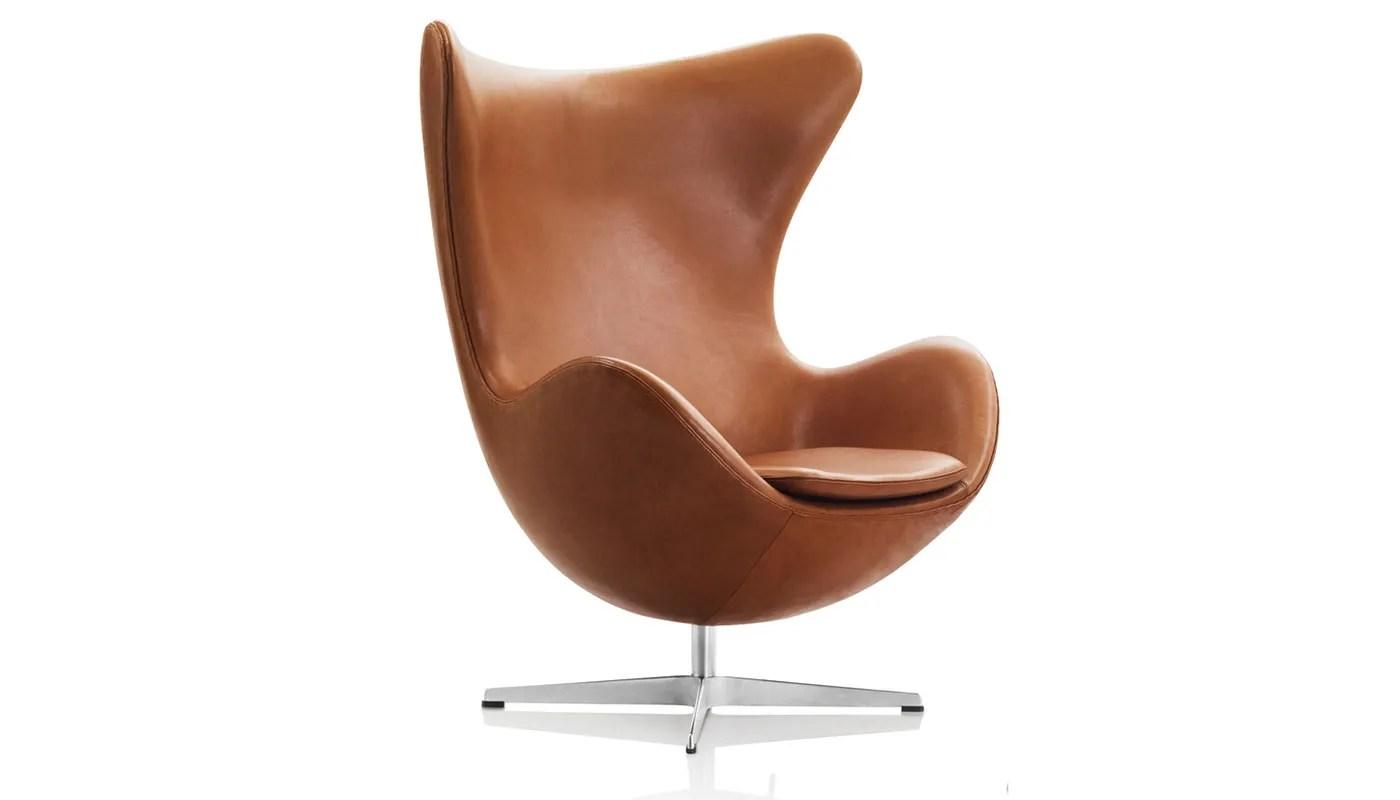 Fritz Hansen Egg Chair Dark Brown Elegance Leather Heals