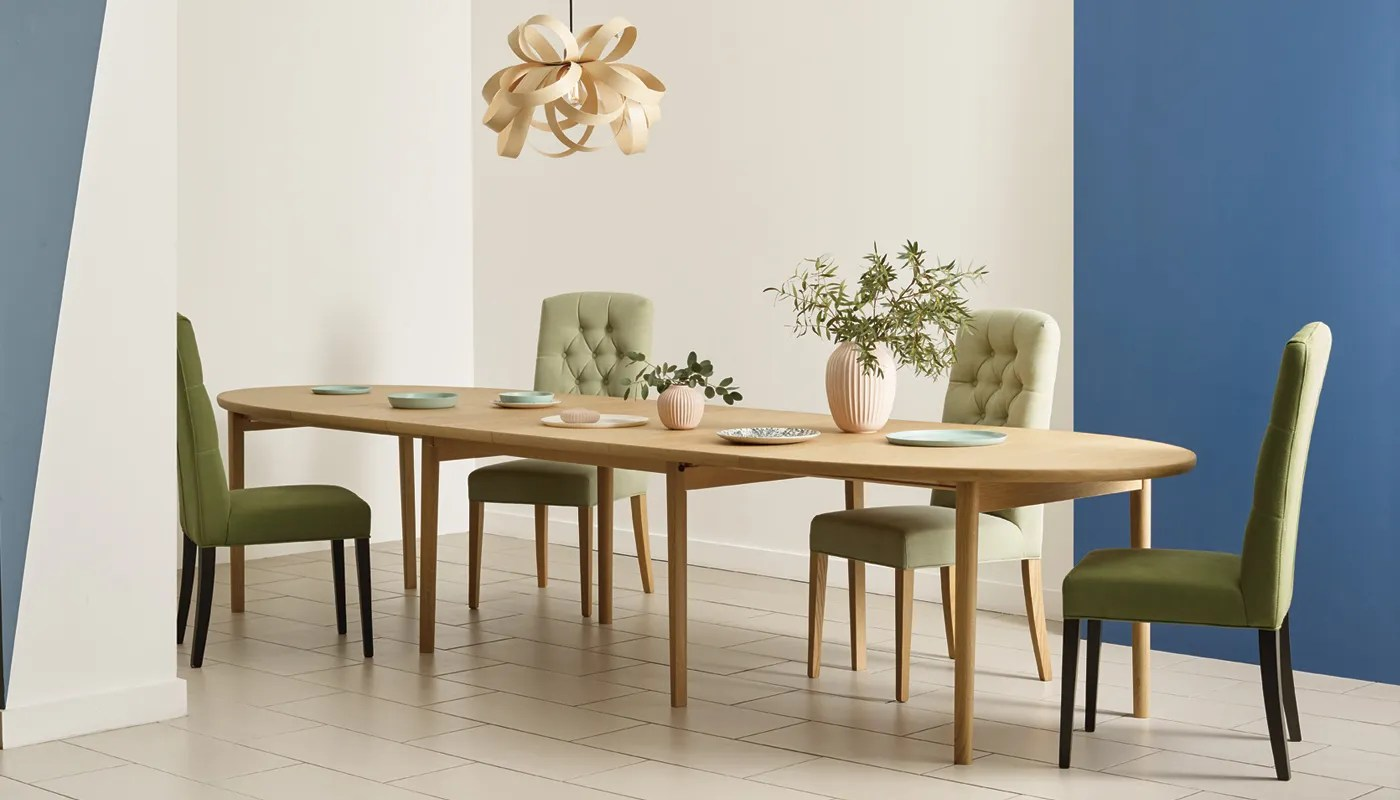 ellipse extending dining table 6 10 seater kitchen table designs