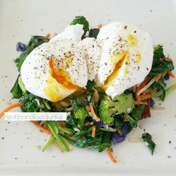 Vegetable Poached Eggs